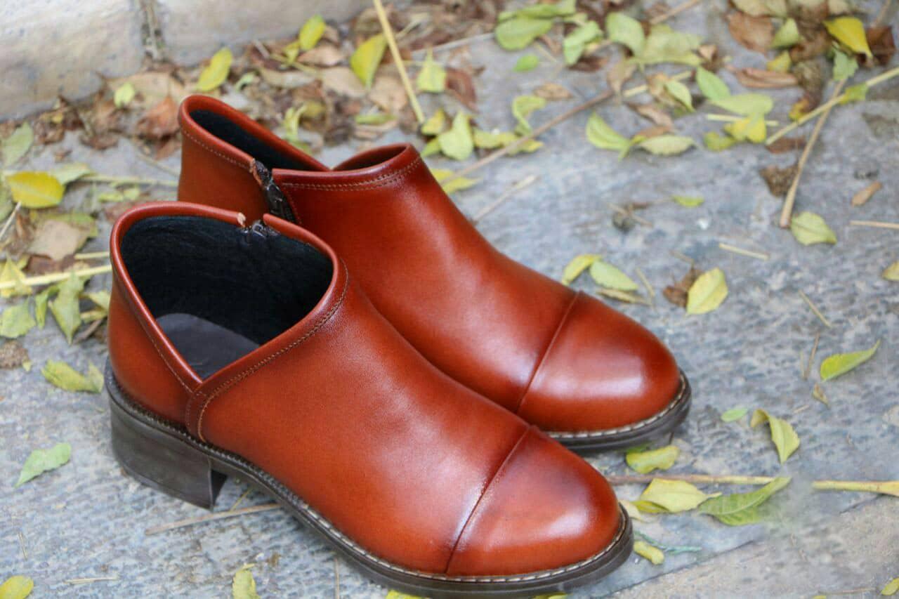 فروش عمده کفش چرم دست دوز زنانه