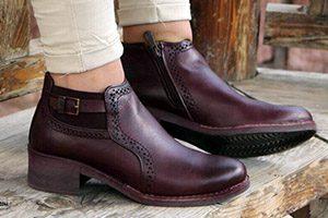پخش عمده کفش چرم گاوی زنانه