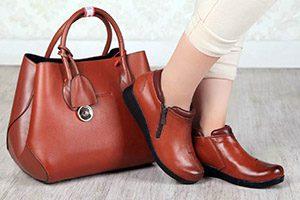 فروش عمده کفش چرم اسپرت بوت زنانه