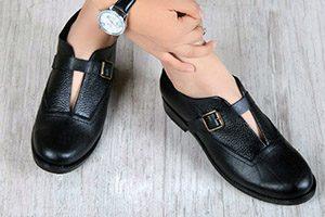 فروش عمده کفش چرم اسپرت بی بند زنانه