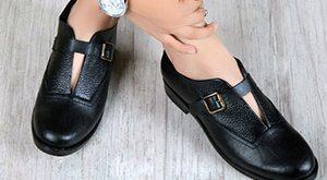 کفش چرم اسپرت زنانه