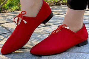 کفش اسپرت دخترانه قرمز