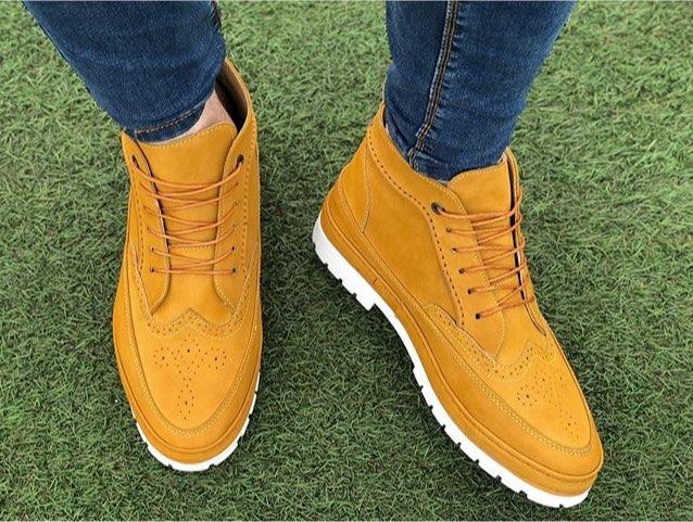 تولیدی کفش نیم بوت مردانه مدل جدید و قیمت مناسب