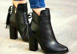 تولیدی کفش زمستانی زنانه طرح چرم